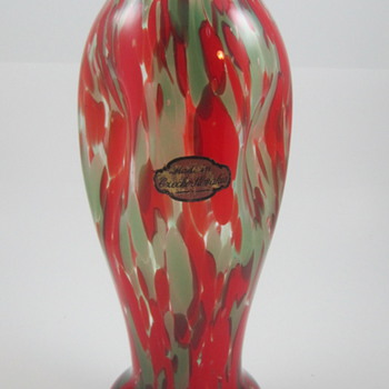A Christmas Vase from Franz Welz, ca. 1930s