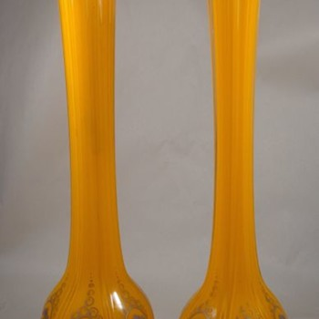 Pair of Czechoslovakia Glass Vases