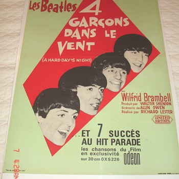 "The Beatles, ""A Hard Day's Night""  in French ""4 Guys in the Wind"""