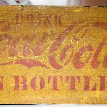 Ye Olde Coca Cola Hutchinson Style Crate 1890s - around 1905 - Coca-Cola
