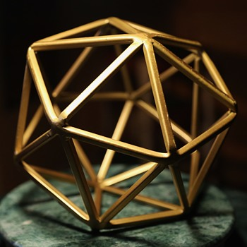 Large Solid Metal [brass?] Bucky Ball - Visual Art