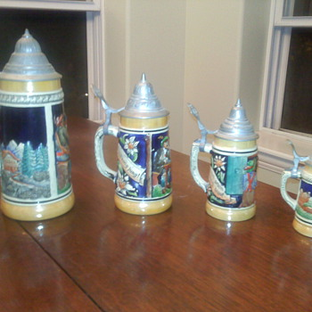 DBGM Set of Four German Beer Steins - Breweriana