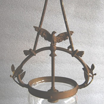 Chandelier with eagle early 1900