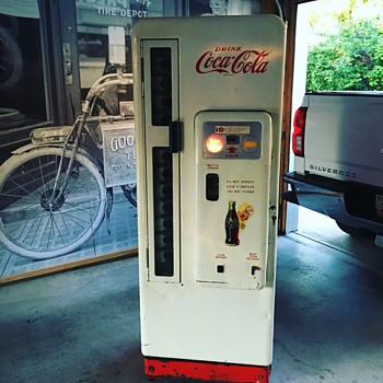 1950's Cavalier CS-96-A round top 10 cent Coke Machine - Coca-Cola