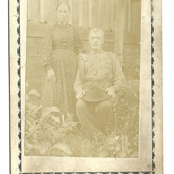 Cabinet Card of Amaziah C. Mitchell &amp; Catherine (Alvis) Mitchell