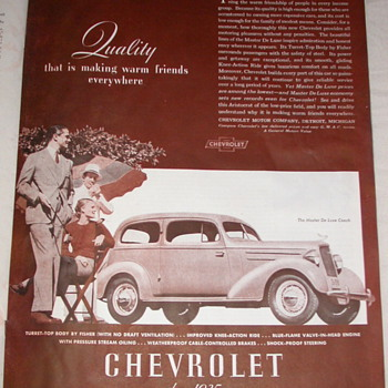 Vintage Chevy Ad Master De Luxe 1935