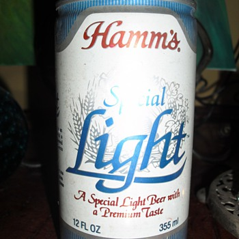 Hamm's Special Light Beer, 12 oz., unopened, no tab, still full.  I know nothing about it.  Can anyone help?