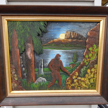 Sasquatch 3D Carving/Painting - This is so cool