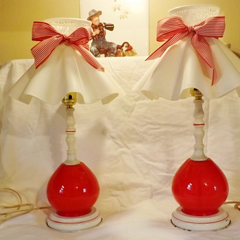 i Love Lucy era Bedroom lamps