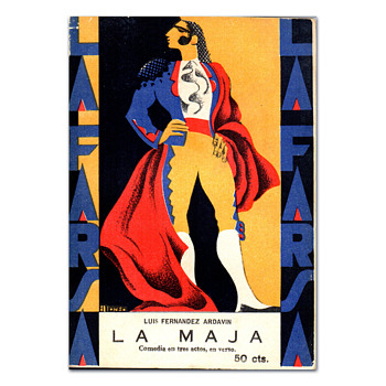 Four issues of LA FARSA; covers illustrated by Alonso. 1928-1930 - Books