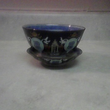 RICE BOWL AND SAUCER - Asian