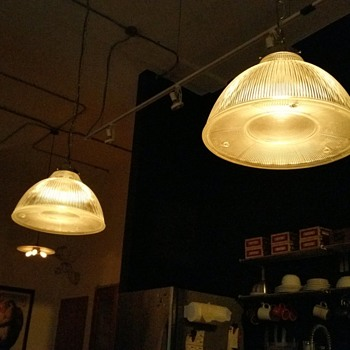 Industrial Holophane Pendant Lights