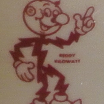 Vintage Reddy Kilowatt Syracuse China Restaurant Ware - Advertising
