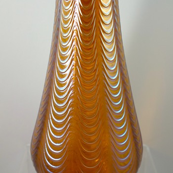 Loetz Orange Aeolus, PN II-2/595, ca. 1902 - Art Glass