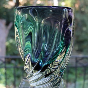 A Favorite IWATSU Japan Glass Vase - Art Glass