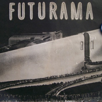 GM Futurama 1939 Worlds Fair Book & Pin