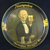Antique Advertising Serving Beer Tray Hampden &quot;Who Wants The Handsome Waiter&quot;