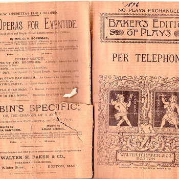 Per Telephone  play book 1896 - Paper