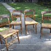 Vintage Ethan Allen Button Back  Hitchcock Chairs