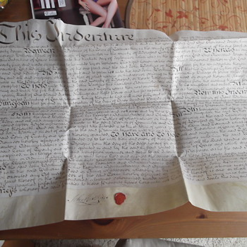 Antique Indenture Document from the late 18th Century - Paper