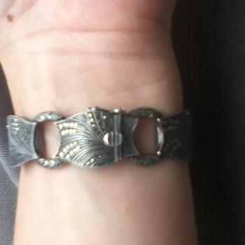 Theodor Fahrner Marcasite & Sterling Bracelet - Fine Jewelry