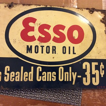 Old esso oil sign