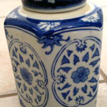 Chinese  Blue & White Covered Jar - Asian