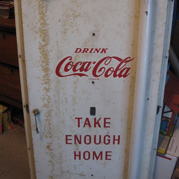 Take Enough Home Lighted Metal Coca Cola Sign