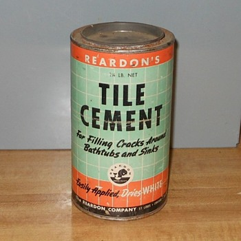 Reardon's Tile Cement 1 1/4 lb Can - Advertising