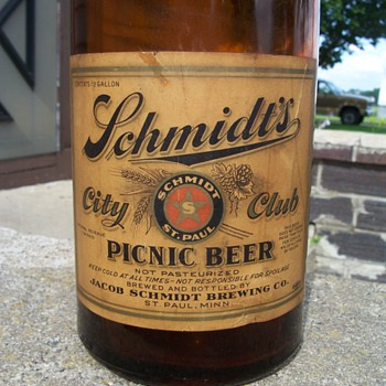 Schmidt Picnic Beer - Breweriana