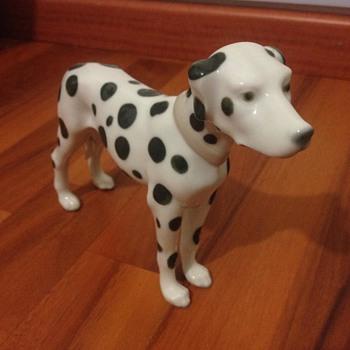 Porcelain dalmatian figure  - Animals