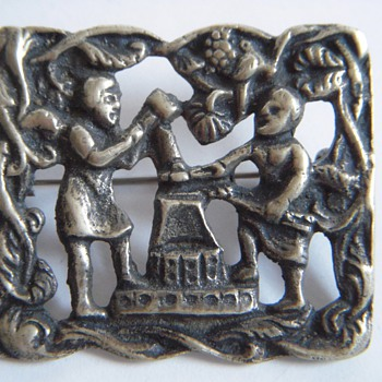 Old Pin with Blacksmiths?~Heavy, Probably brass but I&#039;m not sure