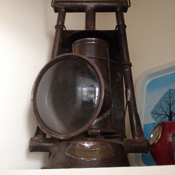 Antique signal lantern