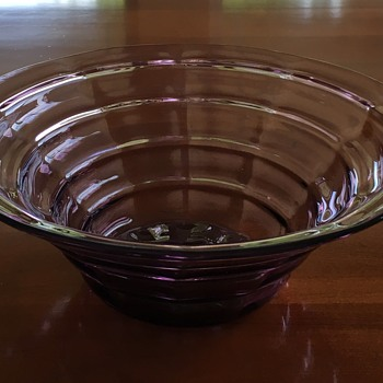 Amethyst Depression Glass Cambodia? Mandalay?