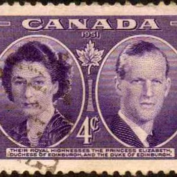 "1951 - Canada ""Royal Visit"" Postage Stamp"