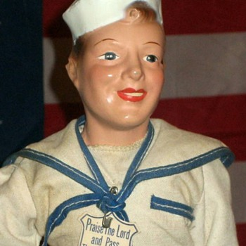 "WWII Military Manikin doll  15"" Tall  - Military and Wartime"