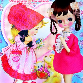 Vintage 1960s-1970s Japanese Pink Hekinan Doll (aka Pose Doll & Bradley Doll) - Dolls