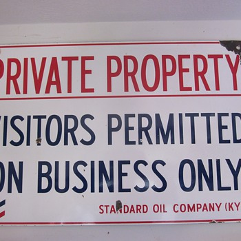 Standard Oil Of Kentucky Porcelain Sign - Petroliana