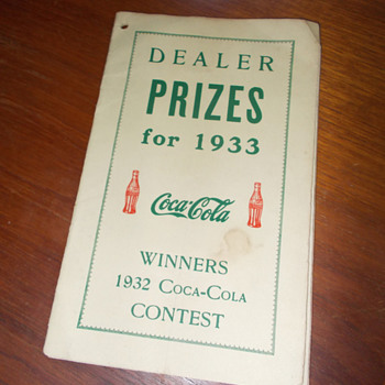 1933 Coca-Cola Prize Booklet