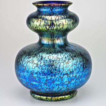 classic Loetz blue Papillon circa 1900/ shape 725 - Art Glass