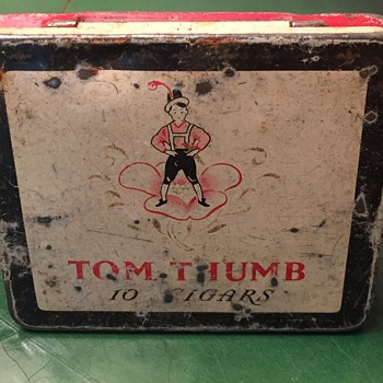 Tom Thumb metal tin.