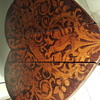 Small Marquetry Heart Folding Table