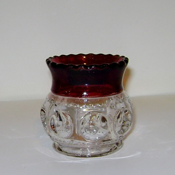George Duncan Sons & Co. - Adams Co. Ruby Stained Toothpick Holder