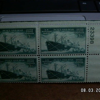 1946 Merchant Marine Peace and War Stamp  - Stamps