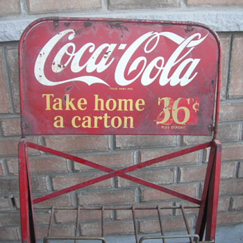 Coke bottle rack sign - Coca-Cola