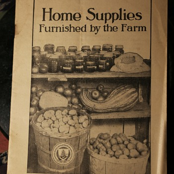 1920 Home Supplies Furnished by the Farm - Paper