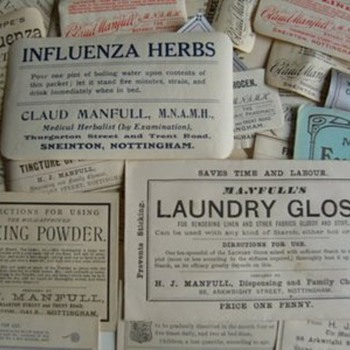 old medicine labels