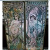"Alphonse Mucha  "" The Times of The Day"" Prints /""The Guild"" Lithograph Reproductions / Circa 1960's-70's"