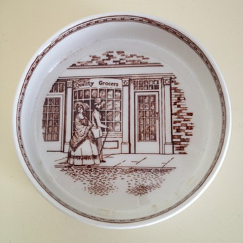 Adams pottery Victorian scene