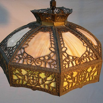 My Favorite Old Yellow Hanging Lamp